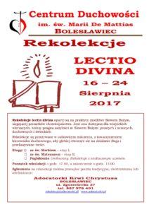 Rekolekcje Lectio Divina - Bolesławiec @ Adoratorki Krwi Chrystusa | Bolesławiec | Województwo dolnośląskie | Polska