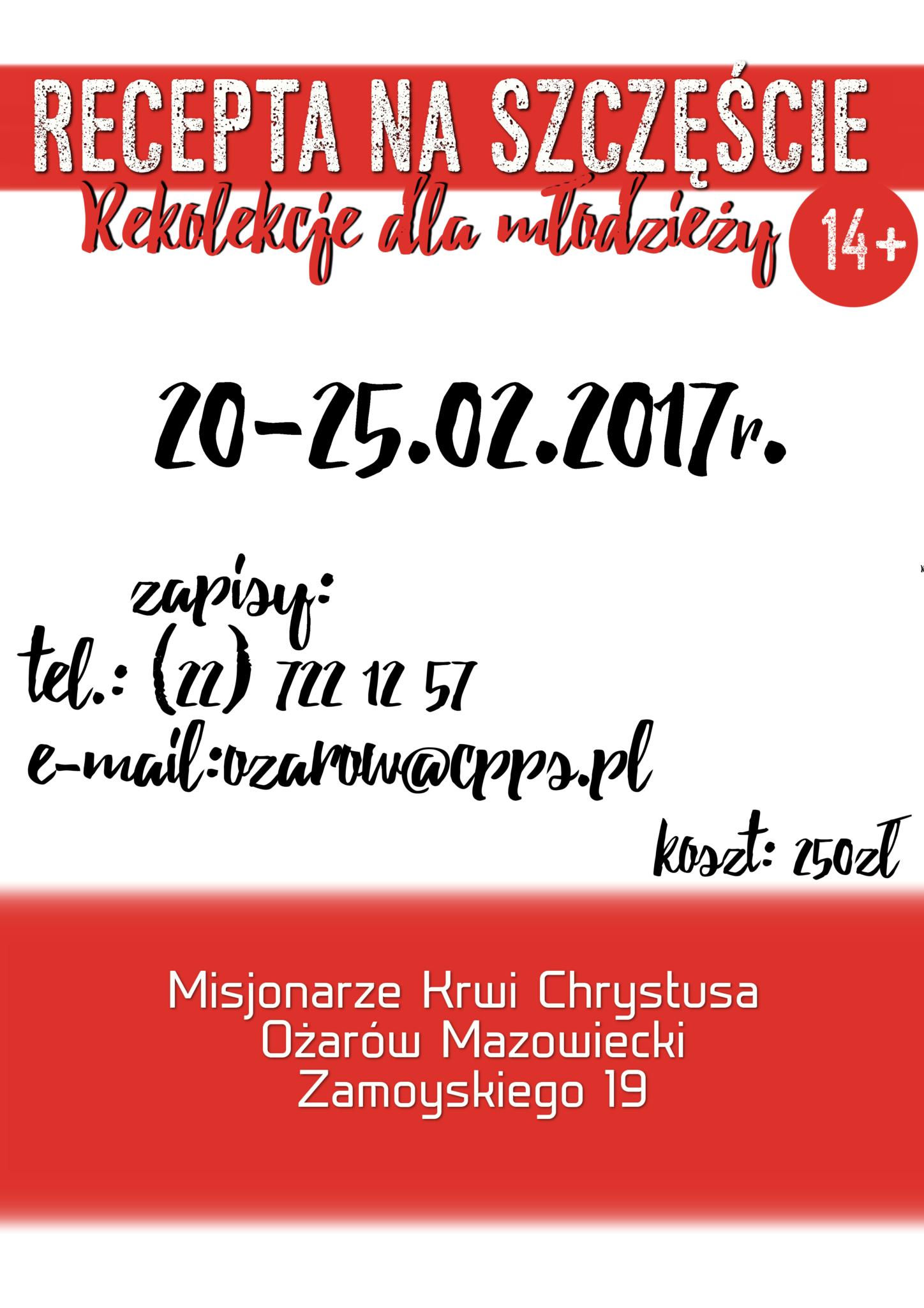 Rekolekcje dla młodzieży w Ożarowie Mazowieckim